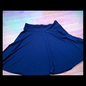 East 5th JCPenney black jersey a line skirt XL